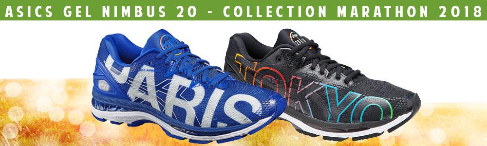 Asics Gel Nimbus 20 -  Edition Marathon Barcelone et Paris