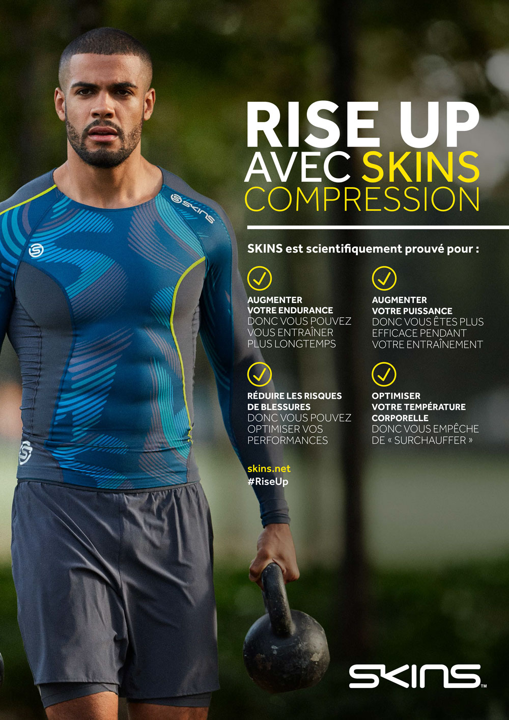 Rise Up avec Skins Compression