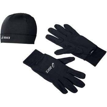 Lot bonnet et gants noir
