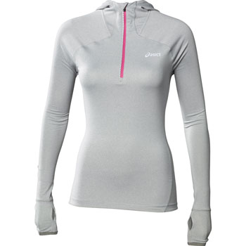 Maillot ML 1/2 zip Hoody gris