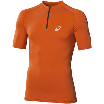 T-Shirt IM 1/2 zip orange