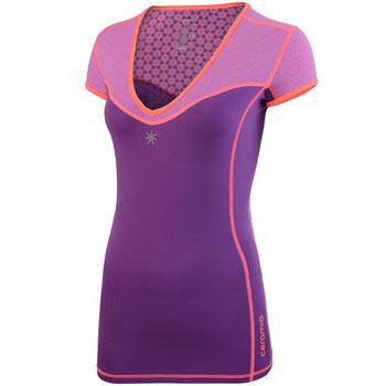 Tee-Shirt Col V La Tania violet F