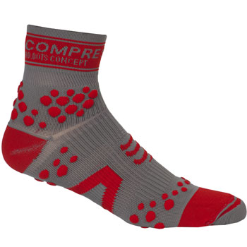 Chaussette ProRacingSocks V2 Trail Gris Rouge