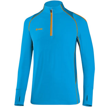 Maillot manches longues Zip Top Power bleu
