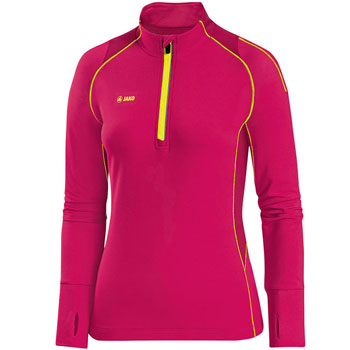 Maillot manches longues Zip Top Power rose