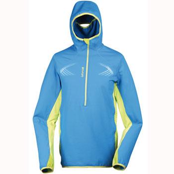 Maillot thermal manches longues zip Skyrace bleu