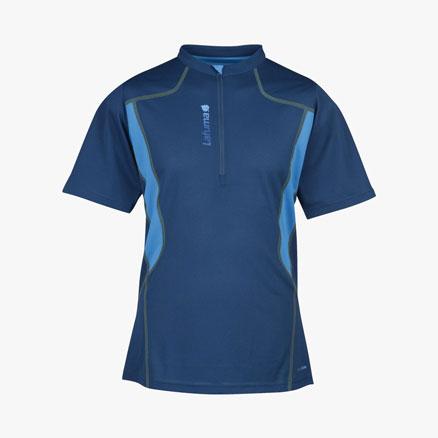 T-Shirt Trail Run T-Zip Corail Blue