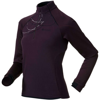 Pull running Glance col 1/2 zip W violet