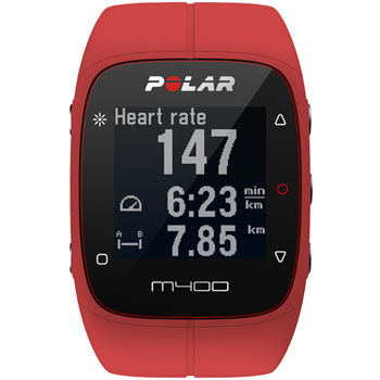 Montre GPS M400 HR rouge
