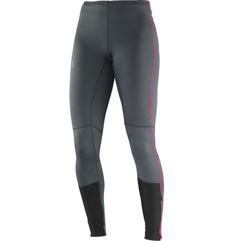 Collant Agile Long Tight W gris rose