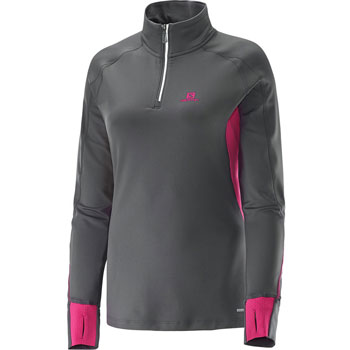 Maillot ML Trail Runner Warm Zip Ls Tee W