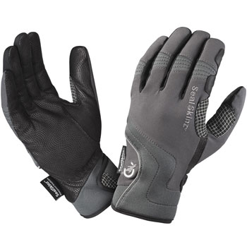 Gants cuir Leather Road Cycle gris