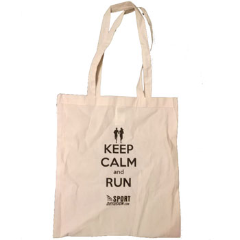 Tote Bag imprimé Keep calm and run