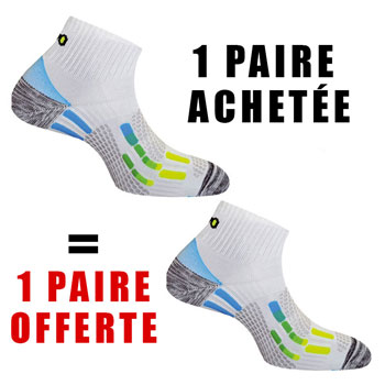 1 PAIRE ACHETEE = 1 OFFERTE Pody Air Run blanches