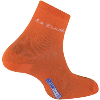 Chaussettes Double Club orange anti-ampoules