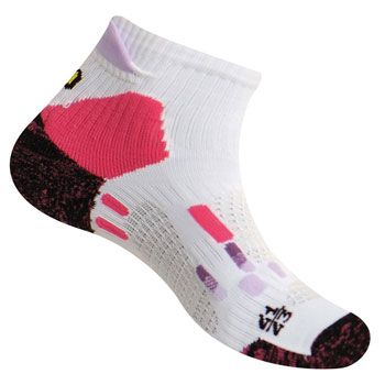 Chaussettes Pody Air Trail blanches roses