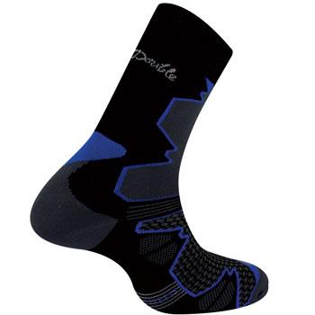 Chaussettes randonnée Double Trek noir bleu