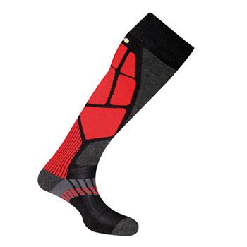 Chaussettes Ski Master 2 noir rouge