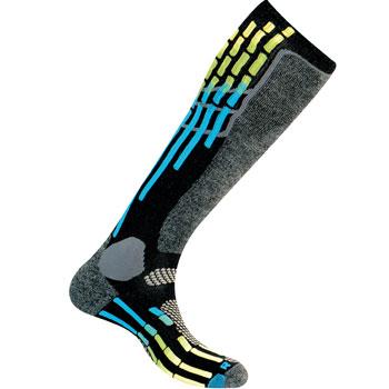 Chaussettes ski Pody Air Ski noir bleu