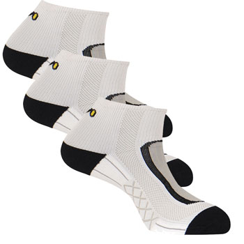 Lot 3 paires chaussettes Run Lighty blanche