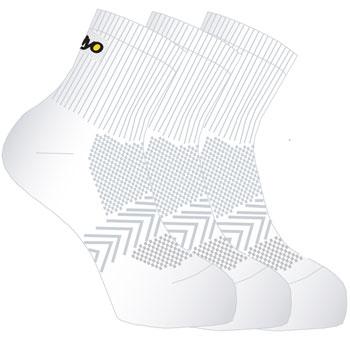 Lot 3 paires de chaussettes tige courte blanc