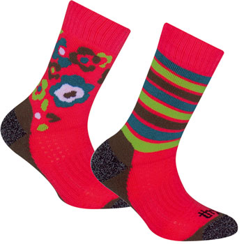 Lot de 2 paires de chaussettes Trekking fille roses