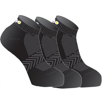 Lot de 3 paires de chaussettes multisports noir