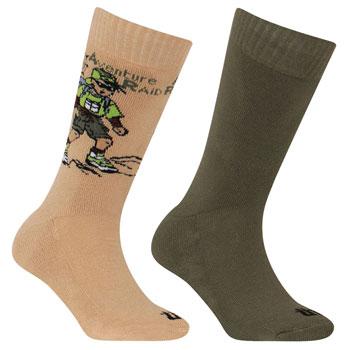 Lots 2 paires chaussettes randonnée Junior Enfants