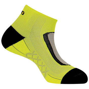 Socquettes Run Lighty jaunes