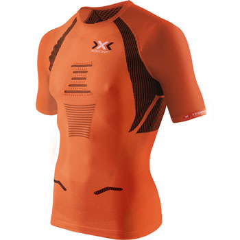 Maillot manches courtes The Trick Running orange