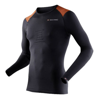 Maillot ML Speed running noir orange