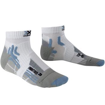 Chaussette Run Marathon blanche bleue