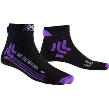 Chaussette Run Performance noire violette