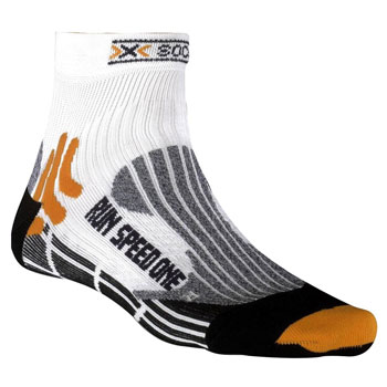 Chaussettes Run Speed One blanches oranges