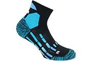 Chaussettes Pody Air Trail noires bleues