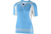 T-Shirt S-Lab Exo Zip Tee W bleu