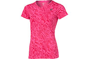 T-shirt running Allover Graphic Top SS rose