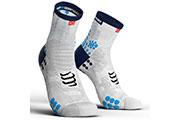 Pro Racing Socks V3.0 Run High Blanc Bleu
