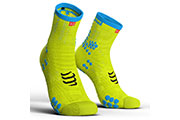 Pro Racing Socks V3.0 Run High Jaune Fluo