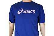 T-shirt logo Asics bleu rose