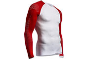Maillot de compression ON/OFF LS blanc rouge