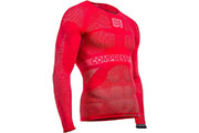 Maillot de compression ON/OFF LS rouge