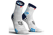 Pro Racing Socks V3.0 Run High Blanc Bleu