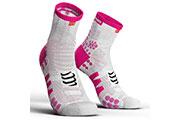 Pro Racing Socks V3.0 Run High Blanc Rose