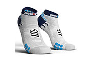 Pro Racing Socks V3.0 Run Low Blanche Bleu