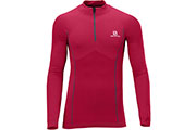 Maillot manches longues Exo Motion Zip Tee rouge