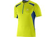 T-Shirt Fast Wing Tee 1/2 zip M jaune bleu