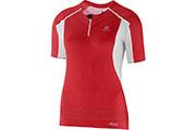 T-Shirt S-Lab Exo Zip Tee W rouge