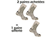 2 PAIRES ACHETEES + 1 OFFERTE Double Trek beige/kaki