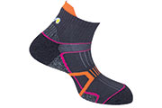 Chaussettes High Trail 2 grises roses
